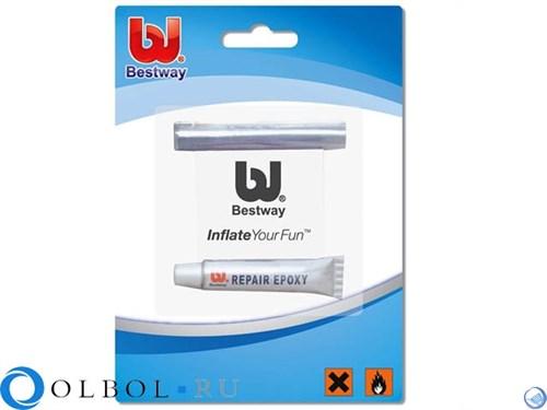 Ремкомплект заплатка + клей Bestway 62022