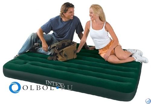 Матрас надувной полуторный Downy со встр. ножным насосом intex 66928