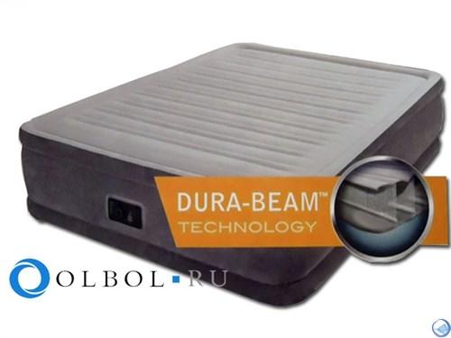 Кровать Comfort-Plush со встроенным насосом 220В (46см) Intex 64414