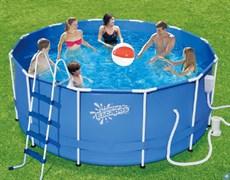 Каркасный бассейн SummerEscapes Р20-1252-В +фильт насос, лестница, тент, подстилка, набор для чистки, скиммер (366х132см)