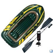 Лодка надувная Seahawk 300  Intex 68380 + весла и насос