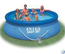 Бассейн с надувным верхним кольцом + фильтр-насос 366х91см Intex 28132