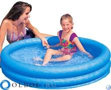 """Детский бассейн """"Кристалл"""" с надувным дном Intex 59416"""