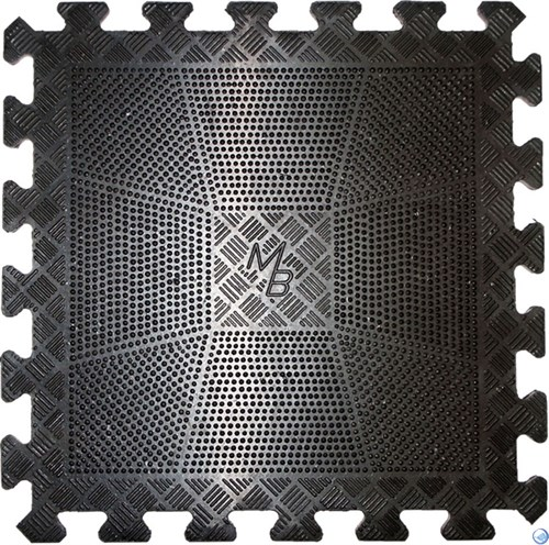 ащитный коврик резиновый черный 400х400, толщина 12мм