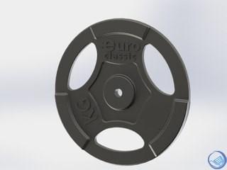 Диски  чугунные EURO-CLASSIC окрашенные d-26