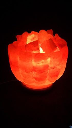 Соляной светильник STAY GOLD «Ваза с камнями»  4,2 кг  с диммером