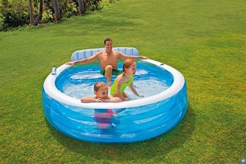 Надувной семейный бассейн Intex 57190 (224х216х76 см)