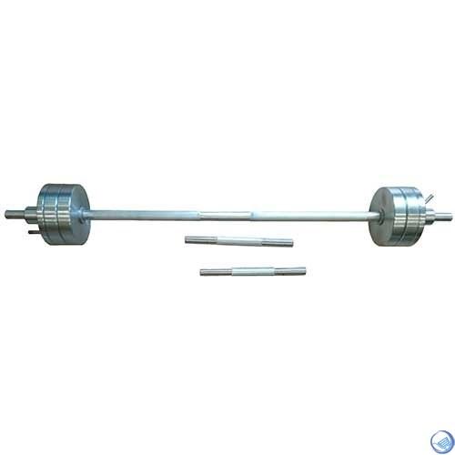 Штанга разборная металлическая(1,25 м) 30 кг + 2 гантельных грифа