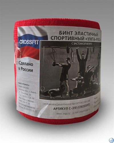 """Бинт эластичный спортивный """"УНГА-РУС"""" CROSSFIT красный, 3,5м*8см, арт. C-310"""