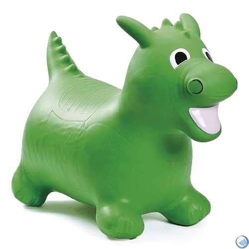 Попрыгун надувной 10LW Динозаврик (с насосом, зеленый) - фото 30174