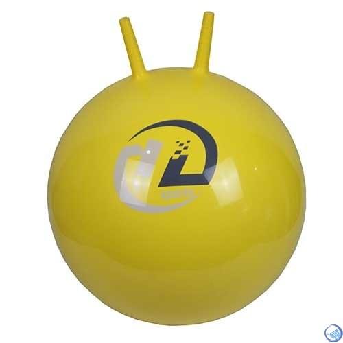 Мяч-попрыгун  BB-004-45 с рожками (45см, желтый)