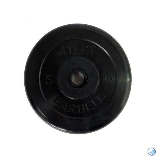 Диск обрезиненный черный MB ATLET d-26  5кг - фото 30408