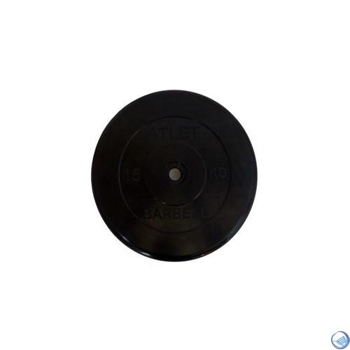 Диск обрезиненный черный MB ATLET d-26 15кг - фото 30410