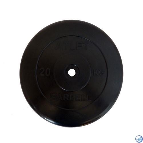 Диск обрезиненный черный MB ATLET d-26 20кг - фото 30411