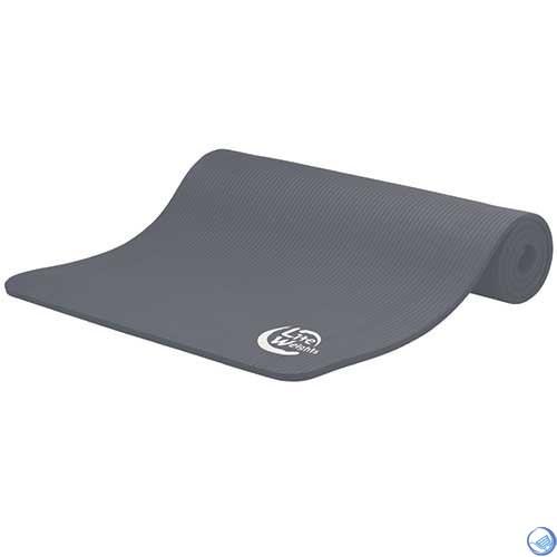 Коврик для йоги и фитнеса 180*60*1см 5410LW, антрацит - фото 30681