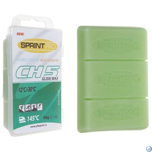 Мази скольжения SPRINT PRO. CH5 Green (-12 -30°C). 60г