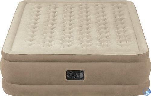 Надувная кровать Intex 64458 двуспальная со встр. насосом 220В (152х203х46)