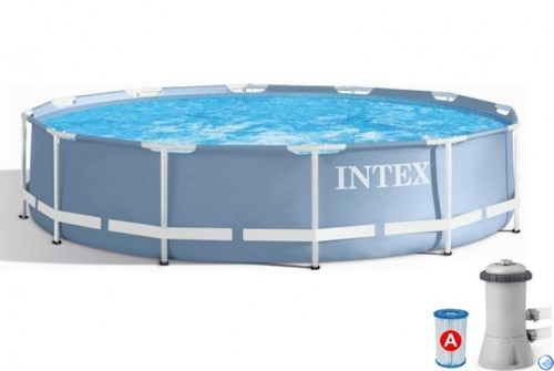 Каркасный бассейн Intex 26712 + фильтр-насос (366х76см) - фото 33737