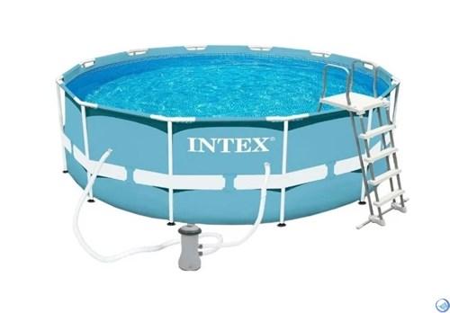 Каркасный бассейн Intex 26718 + фильтр, лестница (366x122)