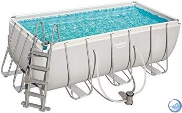 Каркасный бассейн Bestway 56456 + фильтр-насос, лестница. (412х201х122см) - фото 35735