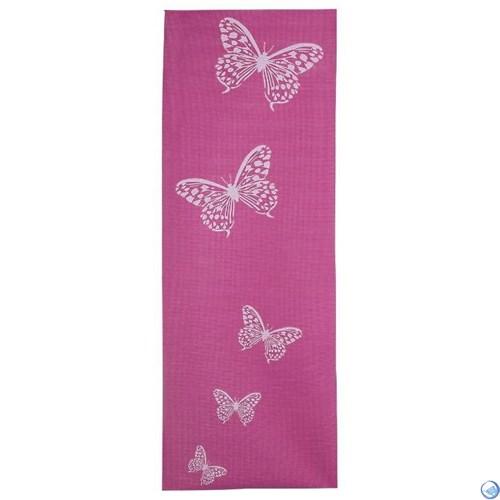 Коврик для йоги и фитнеса YL-Sports 173*61*0,4см BB8301 с принтом, розовый - фото 40698