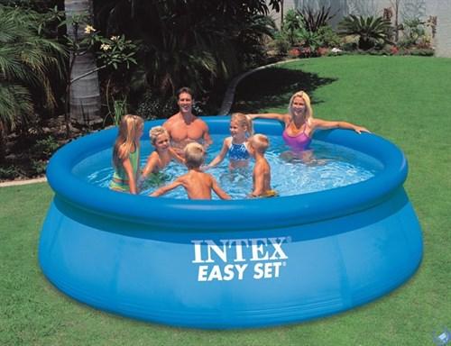 Бассейн с надувным верхним кольцом 366х91см Intex 28130