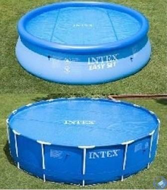 Тент солнечный прозрачный для бассейнов (244см) Intex 59958