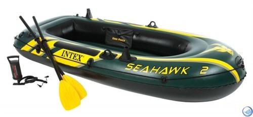Надувная лодка Intex 68347 2-x местная Seahawk 200 Set - фото 44652