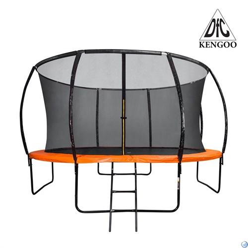 Батут DFC KENGOO II 14ft внутр.сетка, лестница, оранж/черн (427см), 14FT-BAS-BO