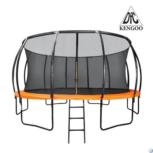 Батут DFC KENGOO 16 футов (488 см) внутр.сетка, лестница, оранж/черн (3 кор) 16FT-TR-E-BAS