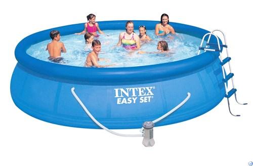Надувной бассейн для дачи 457х107см Intex 54908