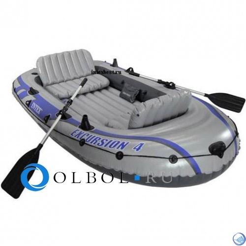 Лодка надувная 4-х местная Excursion 4 Set Intex 68324
