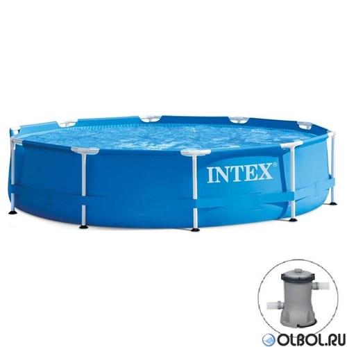 Каркасный бассейн Intex 28202 + фильтр-насос (305х76см)