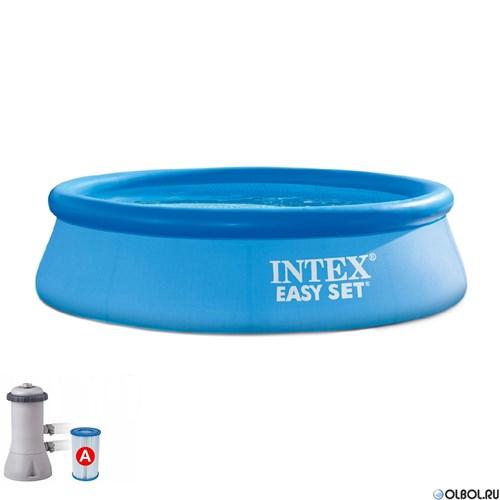 Надувной бассейн Intex 28158 +фильтр насос (457х84)