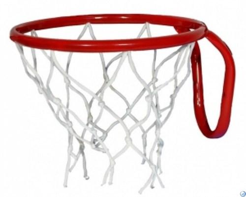 Кольцо баскетбольное с сеткой №5. D кольца - 380мм.