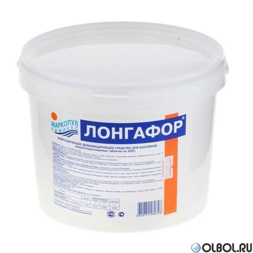 Лонгафор 5 кг (в таблетках по 200 г) длительная хлорная дезинфекция - фото 64449