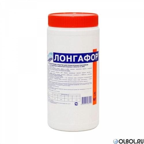 Лонгафор по 200 гр. 1кг таб.  (длительная хлорная дезинфекция) - фото 64450