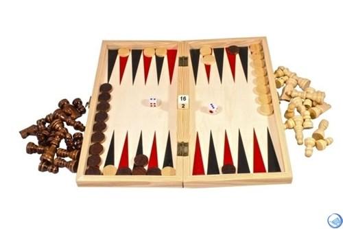 Игра 3 в 1(шахматы+шашки+нарды) дерево
