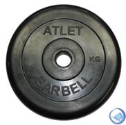 Диск обрезиненный черный MB ATLET d-26  2,5кг