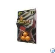Набор для н/т DOBEST BR06 0 звезд (2 ракетки + 3 мяча)