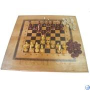 Игра 3в1 (Шахматы, нарды и шашки) малая тонированная ES-0056