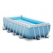Каркасный бассейн Intex 28316 + фильтр-насос,лестница (400х200х100см)