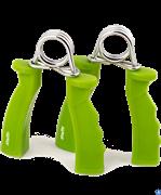 Эспандер кистевой STARFIT ES-301 пружинный, жесткая ручка, зеленый (2шт.)