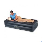 Надувная кровать односпальная с насосом Intex 64122 (99х191х42)
