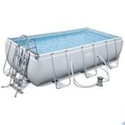 Каркасный бассейн BestWay 56441Б + фильтр-насос, лестница (404х201х100)