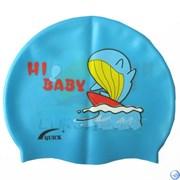 Шапочка для плавания силиконовая с рисунком RH-Q