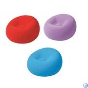 Кресло надувное флок. цветное, 112*112*66 см Bestway 75052