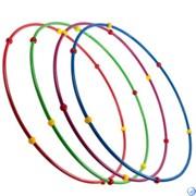 Обруч гимнастический стальной с массажными шариками