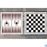 Доска картонная двухстороняя: шахматы, шашки, нарды