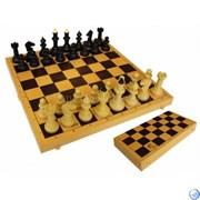 Шахматы обиходные с шахматной доской пластик 03-035
